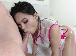 Hot burnette getting fucked
